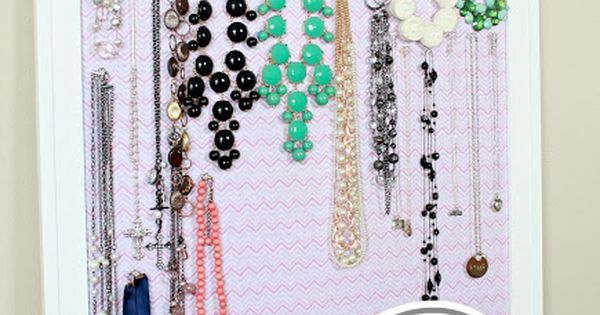 Diy jewelry organization cork board jewelry hanger make for Design your own cork board