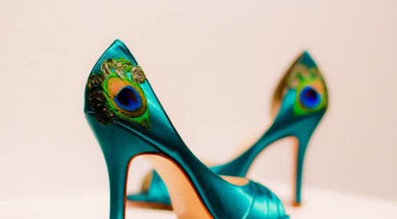 Teal Peacock Shoes