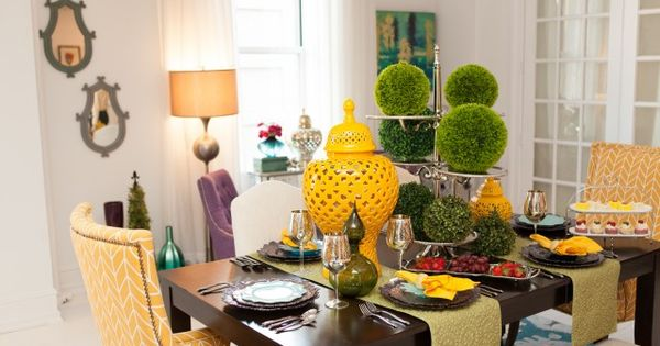 Homegoods dining room from interview with genevieve for Genevieve gorder bedroom designs