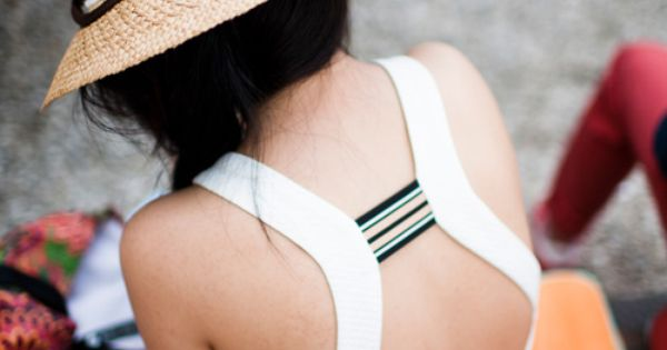 Backless dresses and straw hats