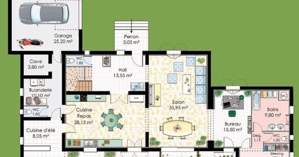 Plan maison avec suite parentale plans pinterest for Budget construction maison 130 m2