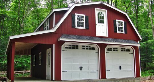 2 Story Prefab Garage Prefab Garages Garage House Garage Design
