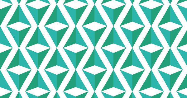 PATTERN AND RHYTHM- The directions of the triangles and green-blue color schemes