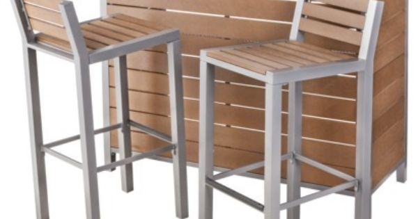 Threshold Trade Bryant Faux Wood Patio Bryant Patio Bar Furniture Set Wood Patio Patio Table Decor Patio Furniture Sets