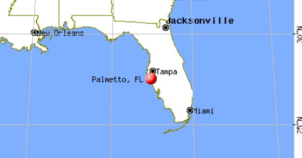 Palmetto Florida map Moving visiting checking out