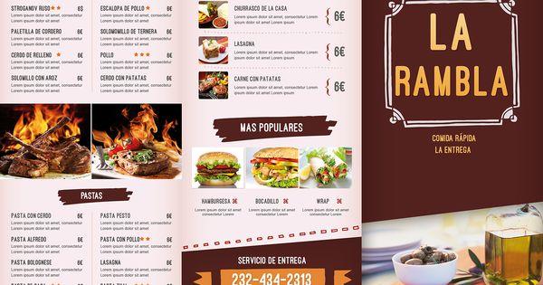 Dise os de menus de restaurantes buscar con google - Disenos para restaurantes ...