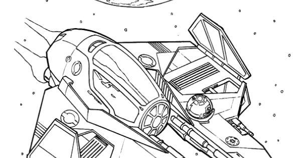 Un vaisseau spatial de star wars colorier coloriage - Coloriage vaisseau spatial ...