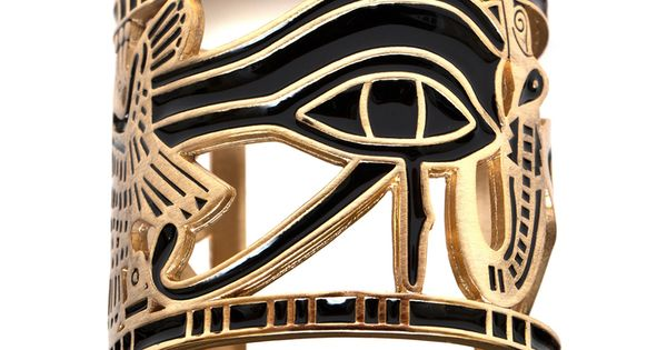Egyptian cuff bracelet, eye of Horus