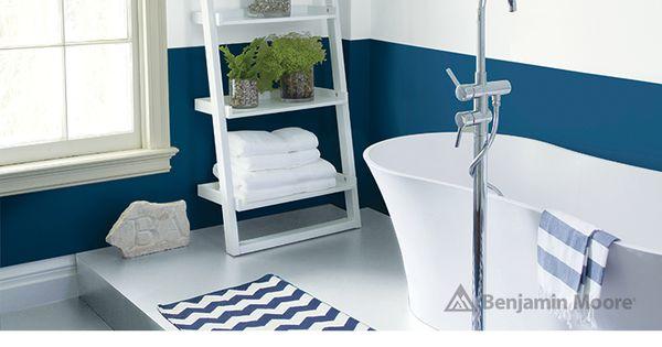 A Serene Nautical Bathroom Wall Wedding Veil 2125 70 With Aura Bath Spa Matte Finish