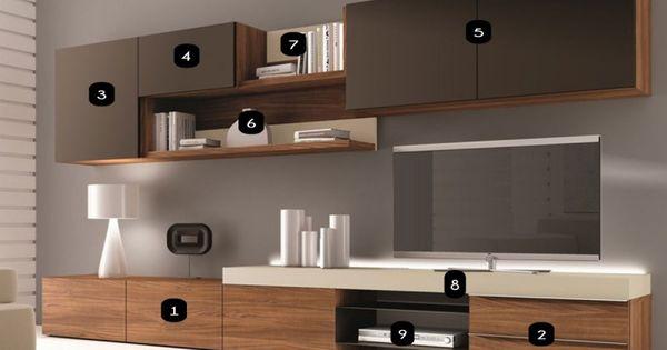 meuble mural tv design osane atylia meuble tv. Black Bedroom Furniture Sets. Home Design Ideas