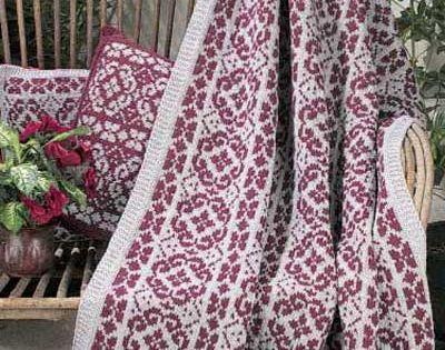 Knitting Afghan Patterns Pinterest : Scandinavian Stripes free knitting pattern Afghans & Co ...