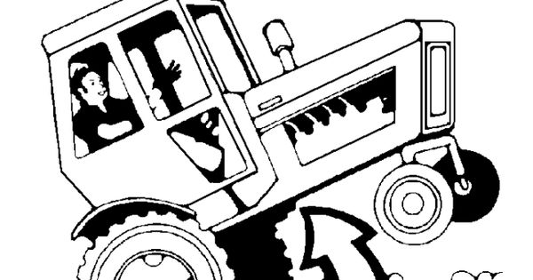 Tractor Safety Coloring Page Tractor Tipping Danger
