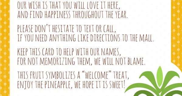 graphic regarding Welcome to the Neighborhood Printable named Welcome Towards The Community Pineapple Present Printable - Www