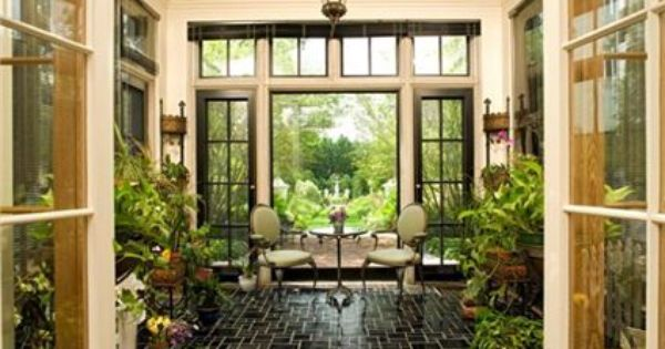 The décor in this sunroom really brings the outdoors in! | Trendy Decor | Pinterest | Sunroom ...