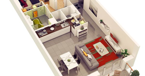 25 More 2 Bedroom 3d Floor Plans Amazing Architecture