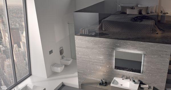 Een slaapkamer en badkamer in n en dat in een xxl formaat met sanitair van sphinx badkamer - Verschil tussen badkamer en badkamer ...