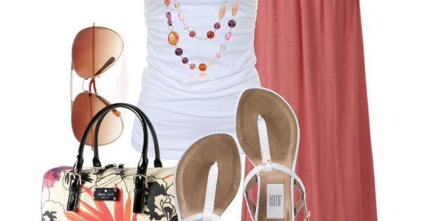 Coral Maxi Skirt :)
