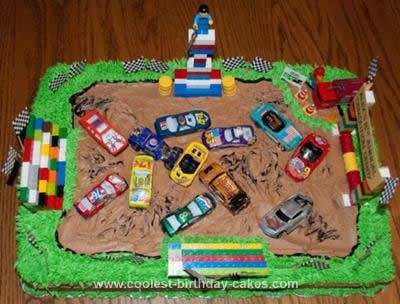 Awesome Coolest Demolition Derby Birthday Cake With Images Cool Funny Birthday Cards Online Alyptdamsfinfo
