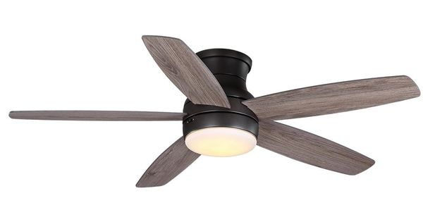 Home Decorators Collection Ashby Park 52 In White Color Changing Integrated Led Bronze Ceiling Fan With Light Kit And Bronze Ceiling Fan Fan Light Ceiling Fan