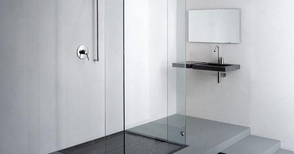 Inloopdouche met douchebak van belgisch hardsteen badkamer pinterest badkamer model en for Badkamer model