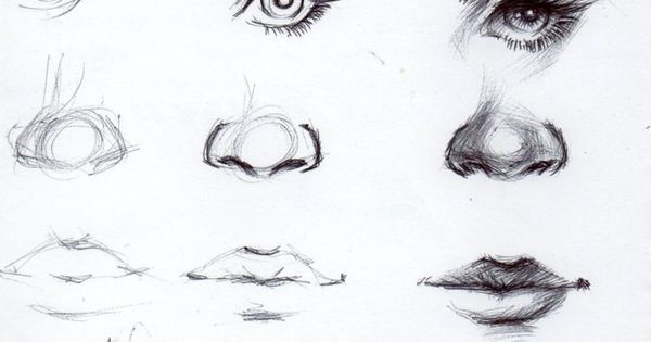 Hello ~ Eye, nose and lip tutorial! It's in the shadows ~