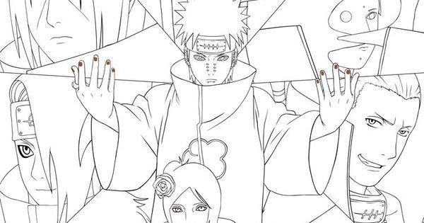 Dibujo Akatsuki Com Imagens Arte Naruto Desenhos Para Colorir