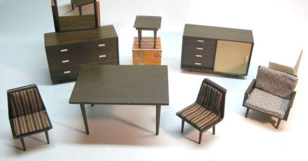 Mattel Barbie Modern Furniture 1950 S Group Of 7 Pieces