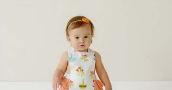 Jelly the Pug - Opal Ruffle Baby Girl Romper $15.99
