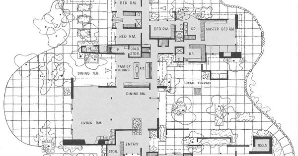 Cliff May, Floor Plan For Mandalay, Brentwood, CA | Cliff May | Pinterest |  Design, Layout And Mandalay