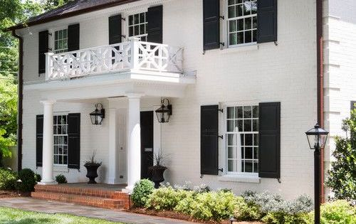 Beautiful Colonial Style White Home With Columns Under The