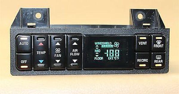 95-99 LESABRE RIVIERA PARK AVE HEATER A//C CLIMATE CONTROL 16214484 GOOD !REMAN