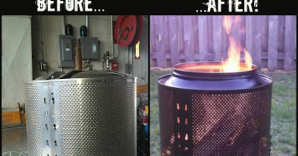 How To Turn A Salvaged Washer Or Dryer Drum Into A