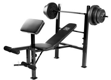 130 The Marcy Pro 100 Lb Weight Bench Combo Has Everything You Need To Get Your Workout Started Weight Benches Weight Set Home Gym Bench