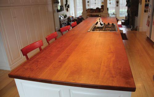 Refinishing A Cherry Wood Countertop Wood Countertops Countertop Design Diy Countertops