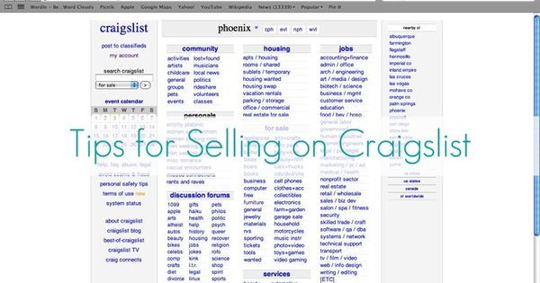 Tips for selling on craigslist good things to know for Craigslist garage sales