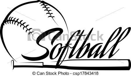 Vector Softball Ball Banner Clipart Panda Free Clipart Images Softball Clipart Softball Shirt Designs Softball Logos
