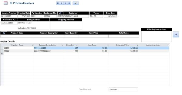 trying to add add a new record with form subform using Bu Tarz - what is invoice po number