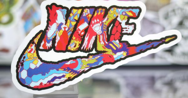 Graffiti Nike Logo Sticker Skateboard Stickers