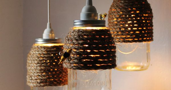 More DIY Mason Jar Lighting Ideas and Tutorials! I like the ones