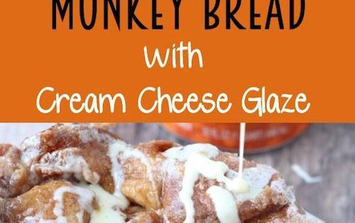 ... Monkey Bread with Cream Cheese Glaze | Recipe | Pumpkins, Monkey bread