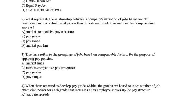 Bus 409 wk 7 quiz 6 all possible questions Labor, The ou0027jays and - job evaluation report