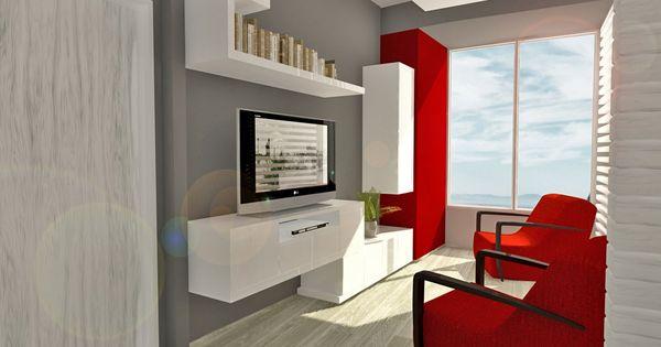 Dise o de interiores dise o de muebles y elementos de - Disenos de muebles para sala ...