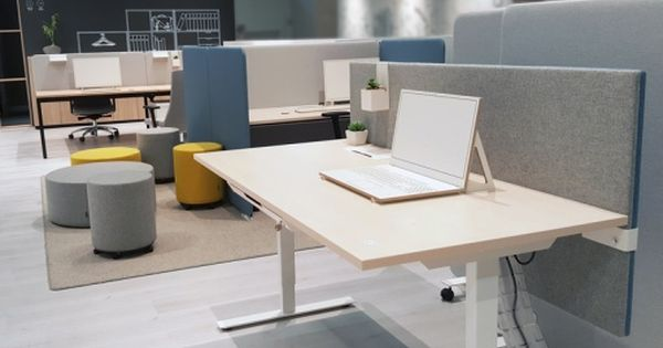 Narbutas Orgatec 2016 Easy Sit Stand Desk Modus Adjustable Height Acoustic Screen Giro Poufs Sit Stand Desk Furniture Design Interior Projects