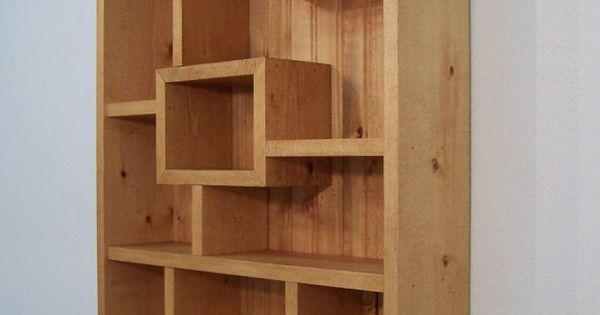 Modern Wood Wall Art Display Shelves Shadowbox Western