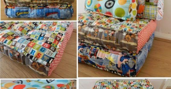 Floor Pillows Joannes : Waffle Floor Pillow Easy DIY Video Tutorial Sy, Kuddar och Symonster