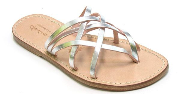 5661a511e01b75 handmade womens silver flat sandals thongs with leather sole italian  boutique 60 strappy gladiator sandals pinterest