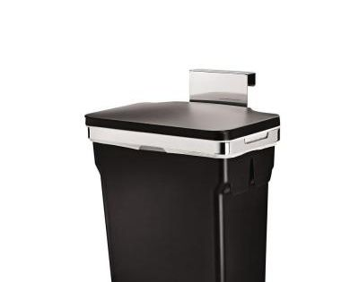 Simplehuman 10 Liter Black In Cabinet Trash Can Cw1643 In 2020 Kitchen Trash Cans Garbage Can Kitchen Waste