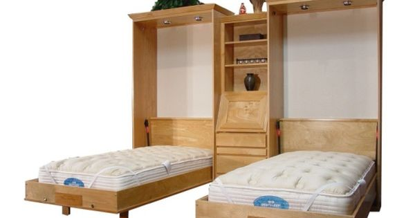 Twin size brittany wall bed alder wood natural finish wish list pinterest murphy bed - Pinterest murphy bed ...