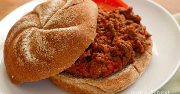 Skinny Sloppy Joes - If you don't like getting your hands dirty,