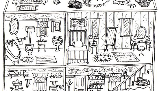 The Gallery For Gt Dollhouse Coloring Pages